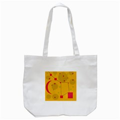 Yellow Abstract Sky Tote Bag (white) by Valentinaart