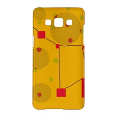 Yellow Abstract Sky Samsung Galaxy A5 Hardshell Case  by Valentinaart