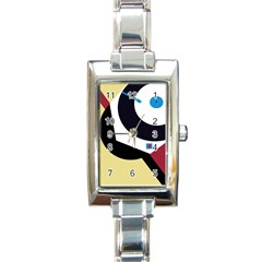 Digital Abstraction Rectangle Italian Charm Watch by Valentinaart