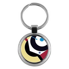 Digital Abstraction Key Chains (round)  by Valentinaart