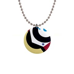 Digital Abstraction Button Necklaces by Valentinaart