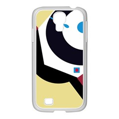 Digital Abstraction Samsung Galaxy S4 I9500/ I9505 Case (white) by Valentinaart