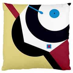 Digital Abstraction Large Flano Cushion Case (one Side) by Valentinaart