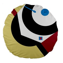 Digital Abstraction Large 18  Premium Flano Round Cushions by Valentinaart