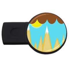 Abstract Landscape  Usb Flash Drive Round (4 Gb)  by Valentinaart