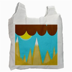 Abstract Landscape  Recycle Bag (one Side) by Valentinaart