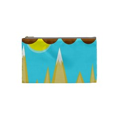 Abstract Landscape  Cosmetic Bag (small)  by Valentinaart