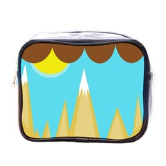 Abstract Landscape  Mini Toiletries Bags by Valentinaart