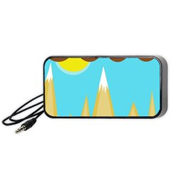 Abstract landscape  Portable Speaker (Black)  by Valentinaart