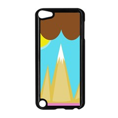 Abstract Landscape  Apple Ipod Touch 5 Case (black) by Valentinaart