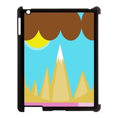 Abstract Landscape  Apple Ipad 3/4 Case (black) by Valentinaart