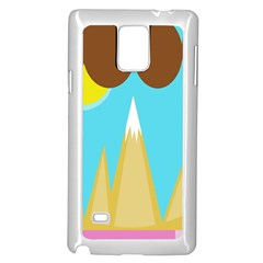 Abstract Landscape  Samsung Galaxy Note 4 Case (white) by Valentinaart