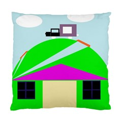 Abstract Landscape  Standard Cushion Case (one Side) by Valentinaart
