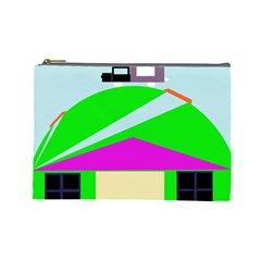Abstract Landscape  Cosmetic Bag (large)  by Valentinaart