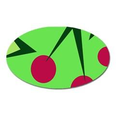 Cherries  Oval Magnet by Valentinaart