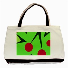 Cherries  Basic Tote Bag by Valentinaart