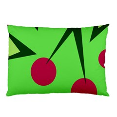 Cherries  Pillow Case (two Sides) by Valentinaart