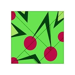 Cherries  Acrylic Tangram Puzzle (4  x 4 ) by Valentinaart