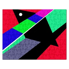 Abstract Fish Rectangular Jigsaw Puzzl by Valentinaart