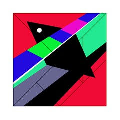 Abstract Fish Acrylic Tangram Puzzle (6  X 6 ) by Valentinaart