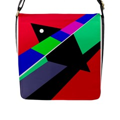 Abstract Fish Flap Messenger Bag (l)  by Valentinaart