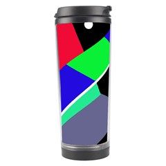 Abstract fish Travel Tumbler by Valentinaart
