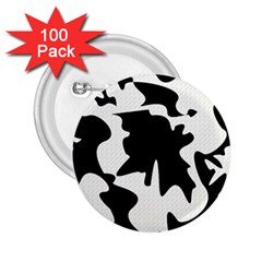 Black And White Elegant Design 2 25  Buttons (100 Pack)  by Valentinaart