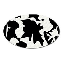 Black And White Elegant Design Oval Magnet by Valentinaart