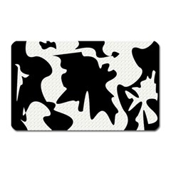 Black And White Elegant Design Magnet (rectangular) by Valentinaart