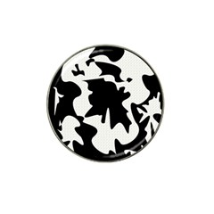 Black And White Elegant Design Hat Clip Ball Marker by Valentinaart