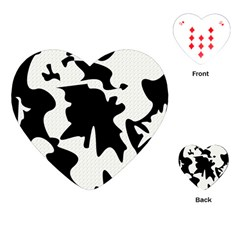 Black And White Elegant Design Playing Cards (heart)  by Valentinaart