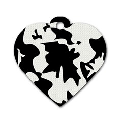 Black And White Elegant Design Dog Tag Heart (one Side) by Valentinaart