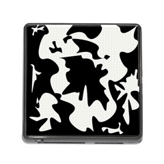 Black And White Elegant Design Memory Card Reader (square) by Valentinaart