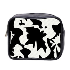 Black And White Elegant Design Mini Toiletries Bag 2 Side by Valentinaart