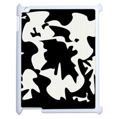 Black And White Elegant Design Apple Ipad 2 Case (white) by Valentinaart