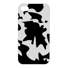 Black And White Elegant Design Apple Iphone 4/4s Hardshell Case by Valentinaart