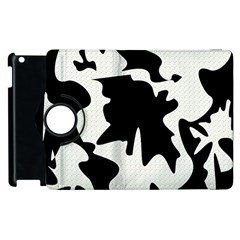 Black and white elegant design Apple iPad 3/4 Flip 360 Case by Valentinaart