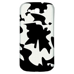 Black And White Elegant Design Samsung Galaxy S3 S Iii Classic Hardshell Back Case by Valentinaart