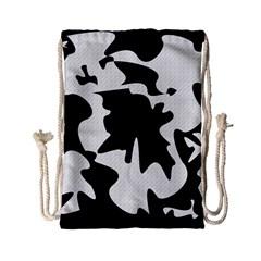 Black And White Elegant Design Drawstring Bag (small) by Valentinaart