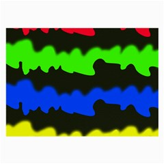 Colorful Abstraction Large Glasses Cloth (2 Side) by Valentinaart