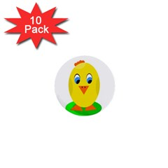 Cute Chicken  1  Mini Buttons (10 Pack)  by Valentinaart