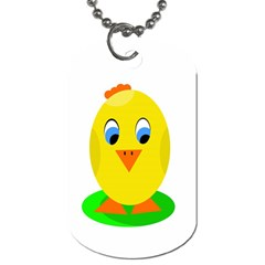 Cute Chicken  Dog Tag (two Sides) by Valentinaart