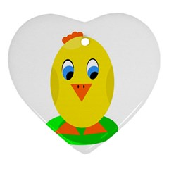 Cute Chicken  Heart Ornament (2 Sides) by Valentinaart