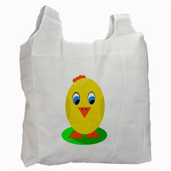 Cute Chicken  Recycle Bag (one Side) by Valentinaart