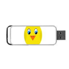 Cute Chicken  Portable Usb Flash (one Side) by Valentinaart