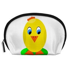 Cute Chicken  Accessory Pouches (large)  by Valentinaart