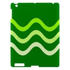 Green Waves Apple Ipad 3/4 Hardshell Case by Valentinaart