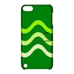 Green Waves Apple Ipod Touch 5 Hardshell Case With Stand by Valentinaart