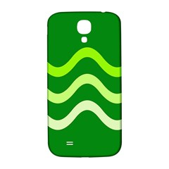 Green Waves Samsung Galaxy S4 I9500/i9505  Hardshell Back Case by Valentinaart