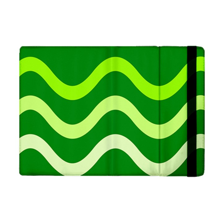 Green waves iPad Mini 2 Flip Cases